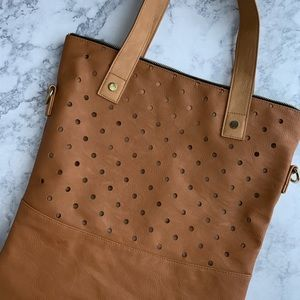 Mossimo Tan Faux Leather Shoulder Bag
